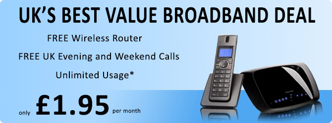 Broadband phone line deals uk
