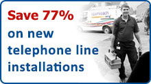 new phone line installations from UK telephone company