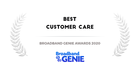 best customer care Broadband Genie Awards 2020