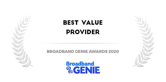 best value broadband provider Broadband Genie Awards 2020